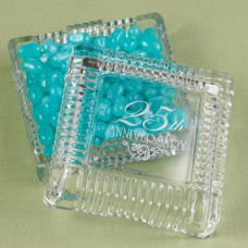 25th Anniversary  Square Candy Dish