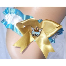NRL Gold Coast Titans Garter with Metal Logo Pin