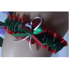 NRL Souths Rabbitohs Garter with Metal Logo Pin