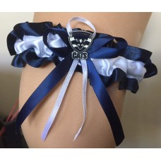 AFL Geelong Bridal Garter  with Metal Logo Pin
