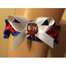 NRL Sydney Roosters Bridal Garter with Metal Logo Pin