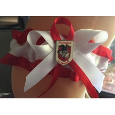 NRL St. George Illawarra Dragons Garter with Metal Logo Pin