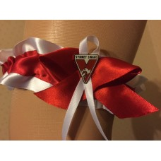 AFL Swans Bridal Garter with Metal Logo Pin