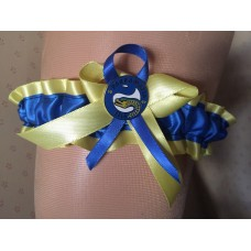 NRL Parramatta Eels Garter with Metal Logo Pin