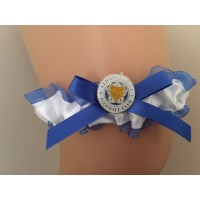 Premier League Leicester City Team Colours Satin Bridal Garter