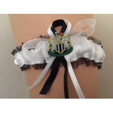 Premier League Newcastle Team Colours Satin Bridal Garter