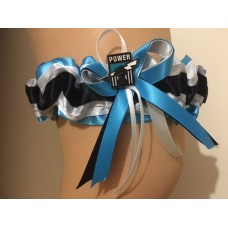 AFL Port Adelaide Power Bridal Garter with Metal Logo Pin