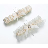 Ivory Pearl Wedding Garter Keepsake/Toss Set