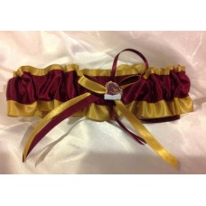 NRL Brisbane Broncos Bridal Garter with Metal Logo Pin