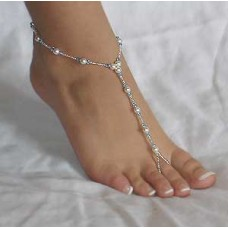Pearl and Crystal Barefoot Sandals