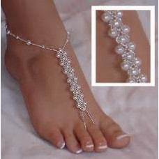 Plaited Pearl Barefoot Sandals