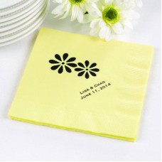 Pastel Yellow Beverage Napkin