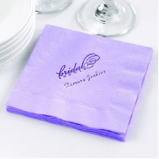 Pastel Purple Beverage Napkin