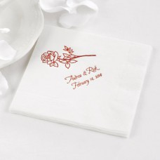 White Beverage Napkin