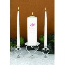 Custom Double Hearts Unity Candle