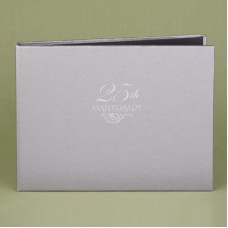 25th  Silver Guest Book