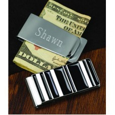 Striped Money Clip - Personalized