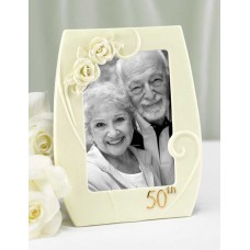 50th Pearl Rose Frame