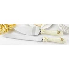 50th Pearl Rose  Serving Set