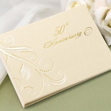 50th Anniv Swirl Dots Guest Book