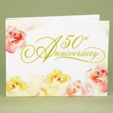 50th Annivesary Watercolor Guest Book