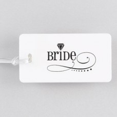 Swirl Bride Luggage Tag