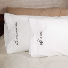 Mr & Mrs Right Pillowcases