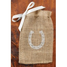 Horseshoe Burlap Favor Bags