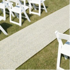Ivory Fabric Aisle Runner
