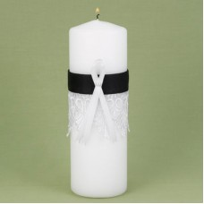 Black Timeless Treasure Unity Candle