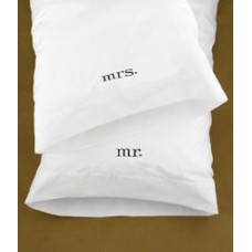Together Mr & Mrs Pillowcases