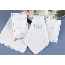Mom Hanky w/Lavender Embroidery