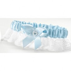Blue Heart Garter Wide Lace, Full Fig