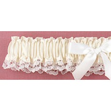Ivory Ribbon & Lace Garter