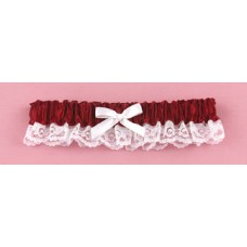 Merlot Ribbon & Lace Garter