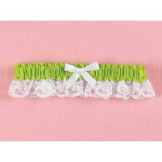 Lime Ribbon & Lace Garter