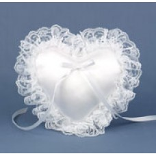 White Mini Heart Pillow