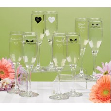 Bridesmaid & Groomsman Flutes - Personalized