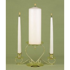 Basic Ivory Unity Candle Set