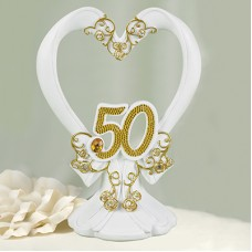 Gilded 50th  Cake Top